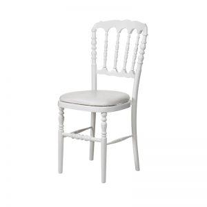 Location chaise napoleon blanche