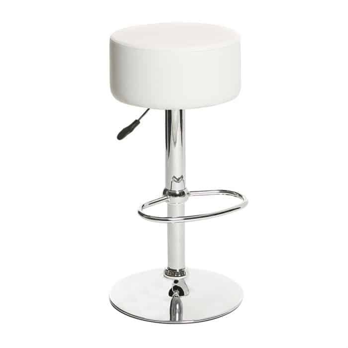 location de tabouret de bar blanc chrome - pic-event : location de ... - Chaise De Bar Blanche