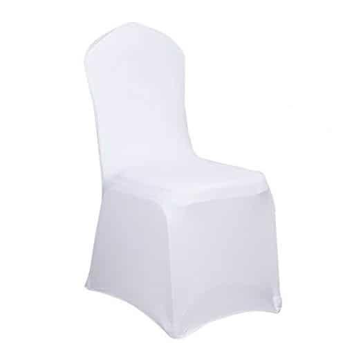 Location housse de chaise en lycra blanche pic event - Location de housse de chaise ...