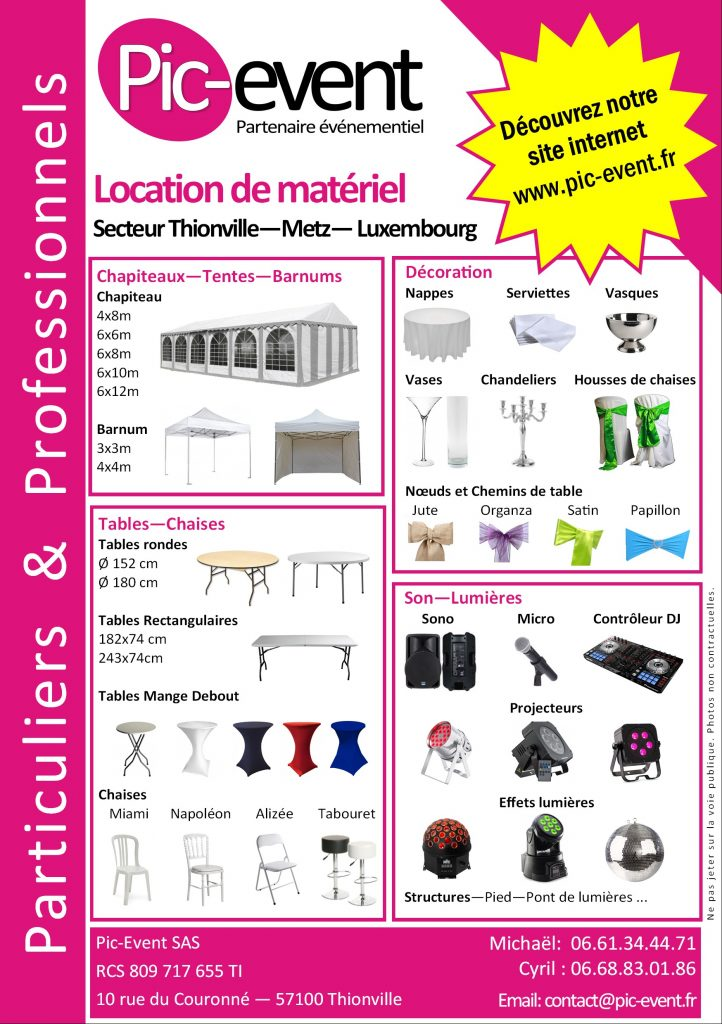 Pic-Event Flyer Automne-Hiver 2016