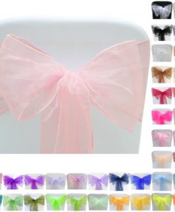 Pic-Event Location Noeuds Chaise Organza Couleurs