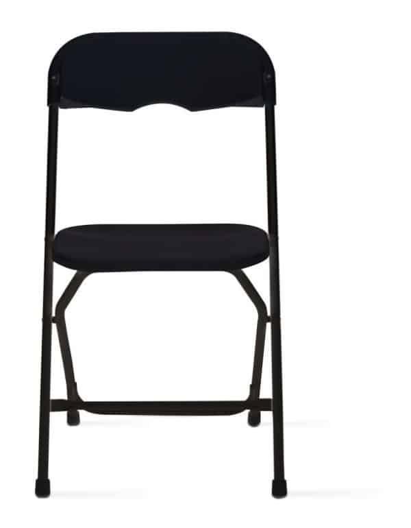 Pic-Event Location chaise pliante noire en plastique