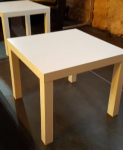 Pic-Event Location table basse blanche