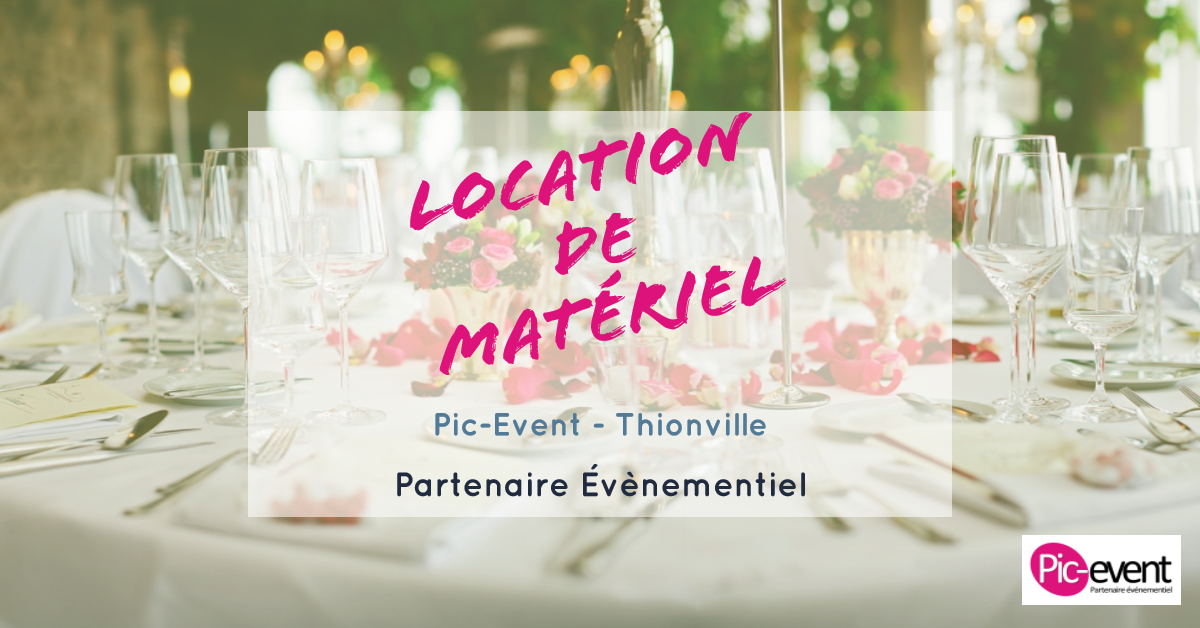 Pic-Event Location de matériel de réception