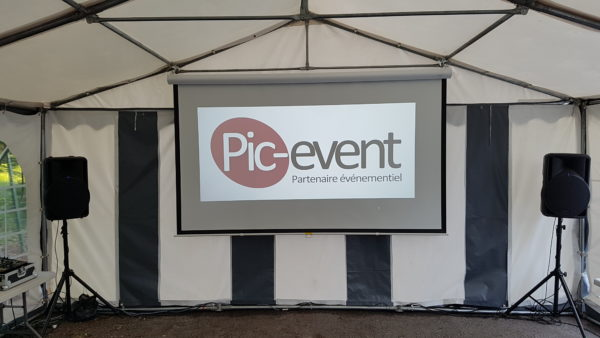 Pic-Event Location Ecran Video Projection Manuel 280cm